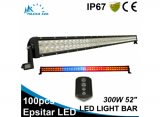 300W 52 inch RGB double row LED work light bar