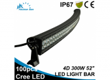 300W 52 inch 4D curved LED work light bar