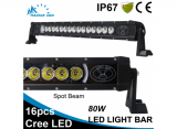80W Cree LED single row LED work light bar